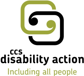 The CCS Disability Action logo